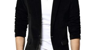 New Black Blazer Men Autumn Winter Fashion Design Mens Slim Fit
