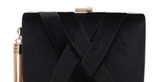 Women's Evening Clutch Bag Stain Fabric Bridal Purse for Wedding