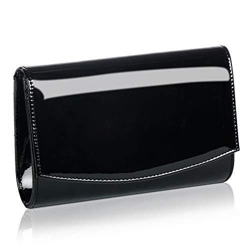 Women Patent Leather Wallets Fashion Clutch Purses, Wallyns Evening