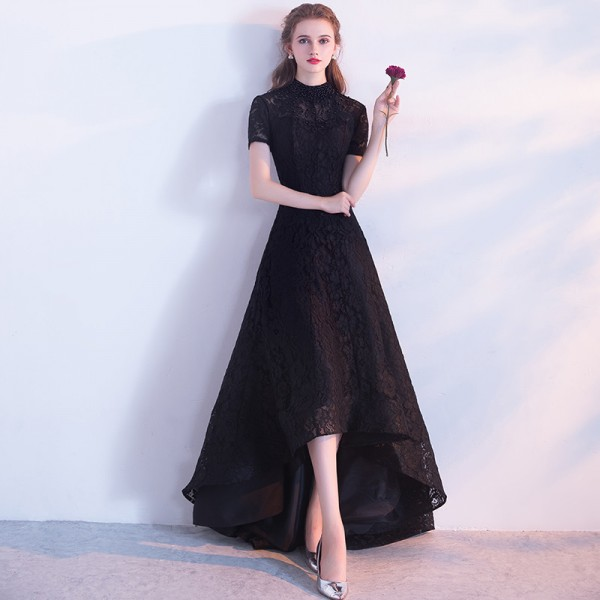Buy Black Evening Dress The Bride Banquet Elegant Lace Party Gown