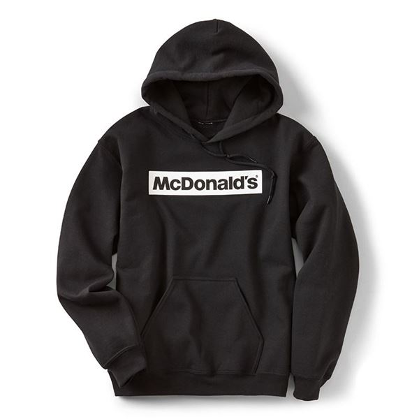 Block McDonald's Black Hoodie - Smilemakers | McDonald's approved