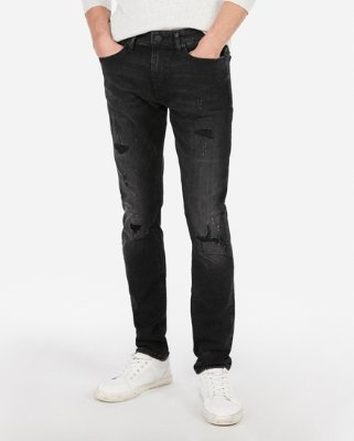 Skinny Black Hyper Stretch Jeans | Express