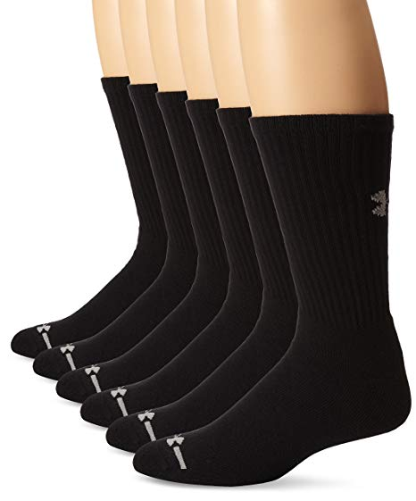 Amazon.com: Under Armour Men's Charged Cotton Crew Socks (6 Pack
