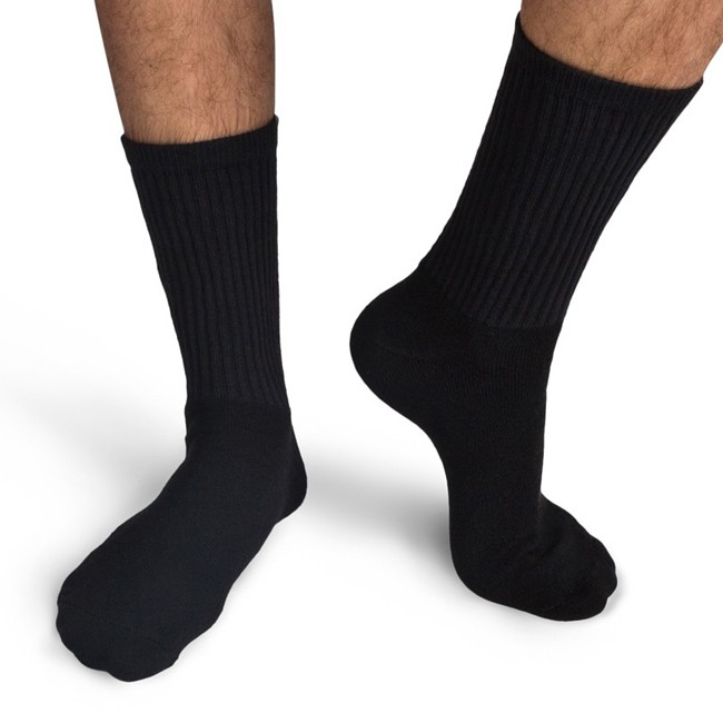 Gildan Men's Black Crew Socks GL751 - Evan Webster INK