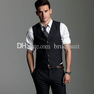 2017 Black Wool Mens Vest And Pant Formal Suit Vest Prom Tuxedo