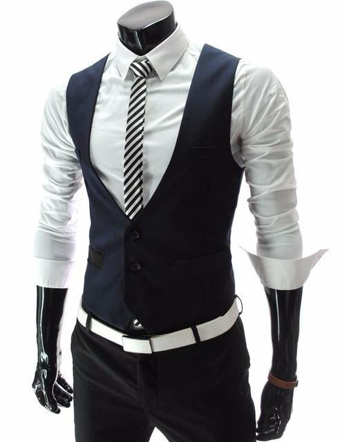 2019 2018 Latest Coat Pant Designs Navy Blue Black Men Vest Fashion