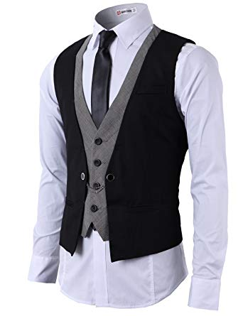 H2H Mens Formal Slim Fit Premium Business Dress Suit Button Down