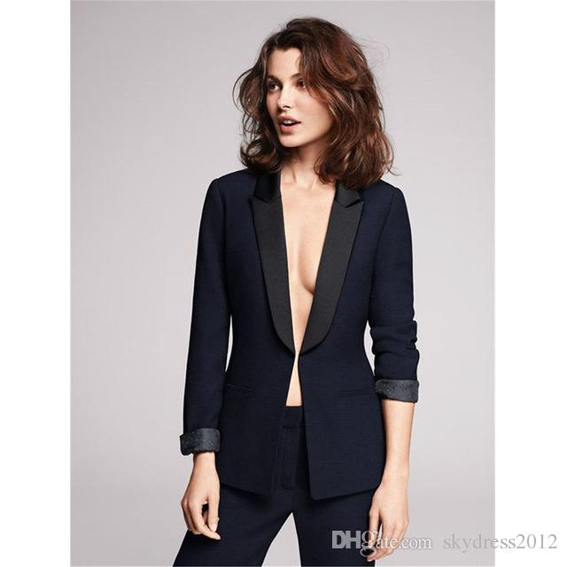 2019 Women Pant Suits Design Ladies Business Trouser Suits Female