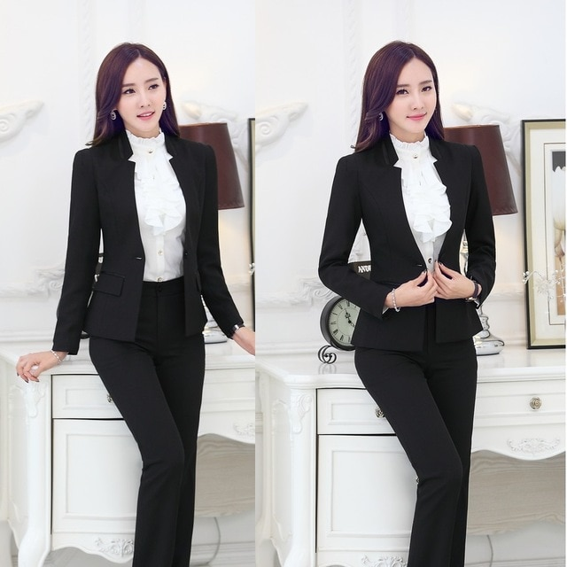 2015 New Elegant Business Women Suit Work Wear Female Blazer and