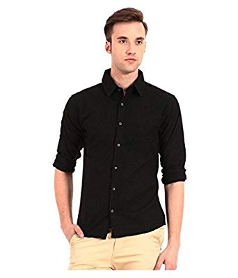 Tarkshyam Trendz Mens Casual black Shirt: Amazon.in: Clothing