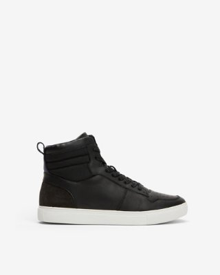 Embossed Logo High Top Sneakers | Express