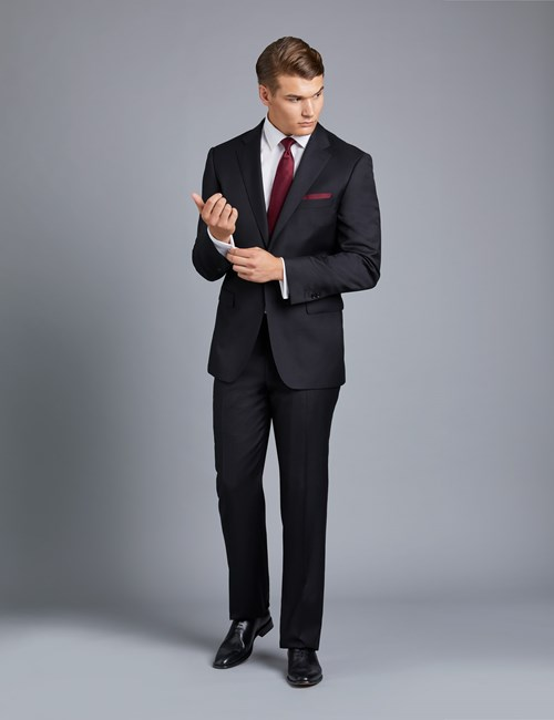 Luxury Men's Black Suits | Hawes & Curtis