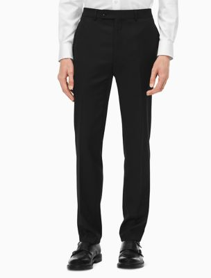 slim fit black suit pants | Calvin Klein