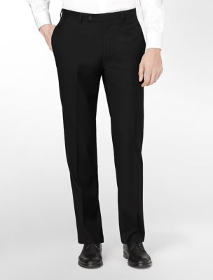 body slim fit black wool suit pants | Calvin Klein