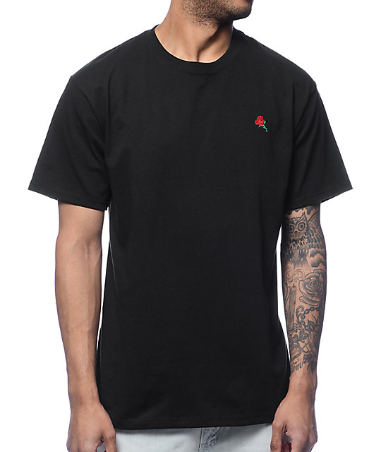 Empyre Rose Embroidery Black T-Shirt | Zumiez