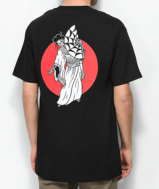Lurking Class By Sketchy Tank Geisha Black T-Shirt | Zumiez