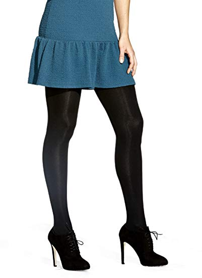 No Nonsense Women's Super Opaque Control-Top Tights at Amazon