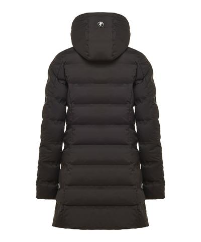Save The Duck Women's Long Puffer Winter Coat In Black - Save the Duck