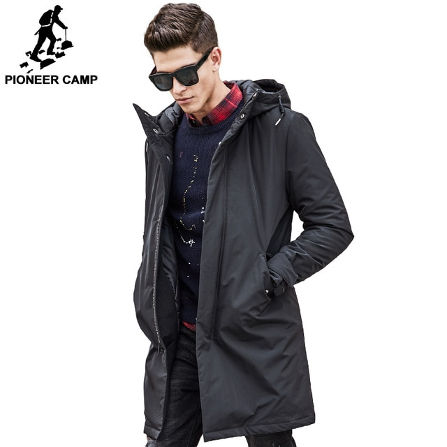 Pioneer Camp long thicken winter Jacket men brand clothing male