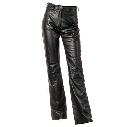 Women's Black Leather Pants, cutomized fit
