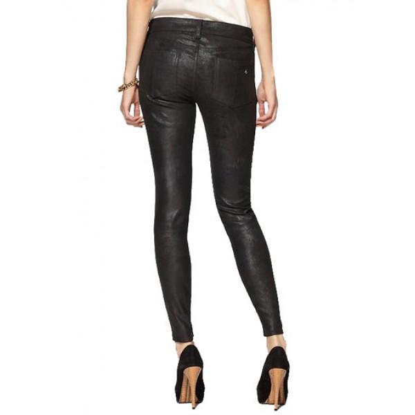 Affluent Zippered Black Leather Pant For Women | Online Leather Pants
