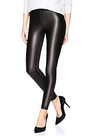 Black leather pants for women