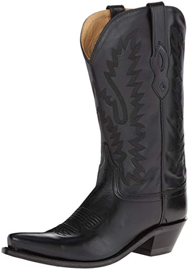 Amazon.com | Old West Women's Distressed Leather Cowgirl Boot Snip