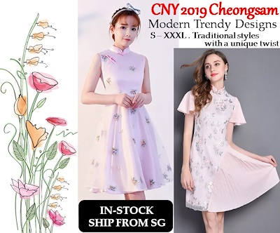 Qoo10 - CNY 2019 Cheongsam : Women's Clothing