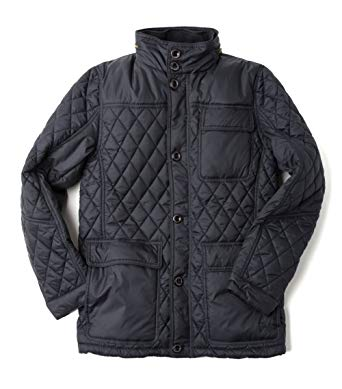 Vedoneire Men's Quilted Jacket (3081 Navy) Dark Blue Diamond Quilt