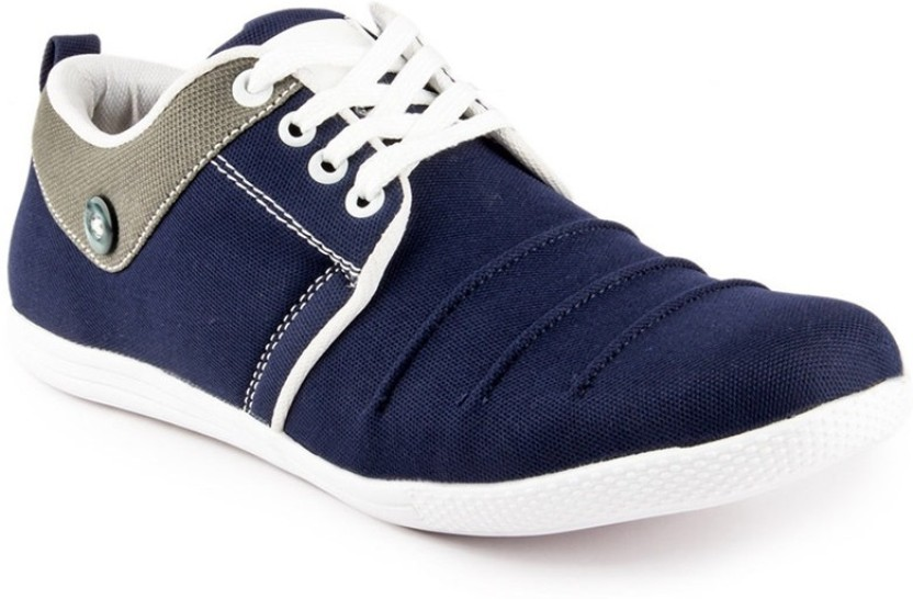 Big Wing Trendy Blue Sneakers For Men - Buy Blue Color Big Wing