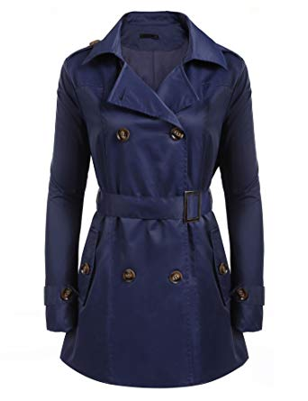 Amazon.com: SoTeer Womens Double Breasted Belted Trench Coats: Clothing