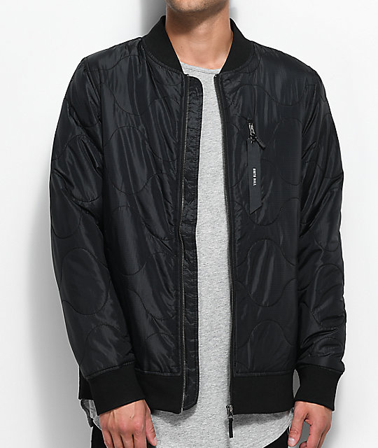 Ninth Hall Raptor Black Bomber Jacket | Zumiez