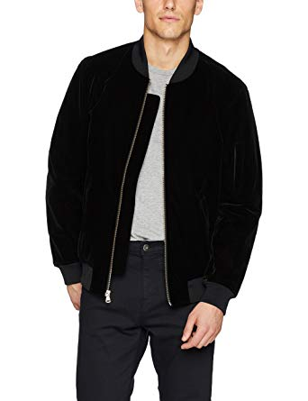 Sean John Men's Velvet Bomber Jacket at Amazon Men's Clothing store: