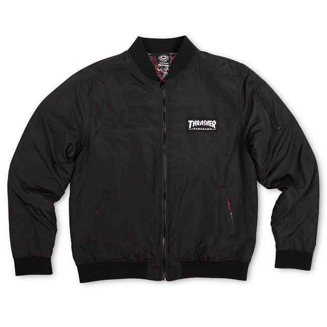 Thrasher Magazine Shop - Bomber Jacket (Black)