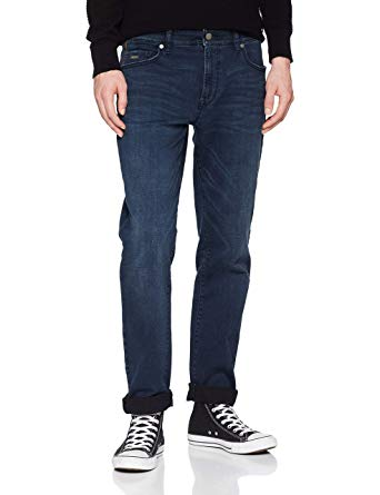 BOSS Men's Regular Fit Maine BC-L-C Jeans Dark Blue at Amazon Men's
