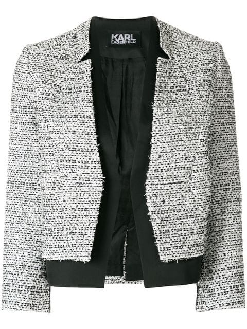 Karl Lagerfeld bouclé and satin blazer $388 - Buy Online - Mobile