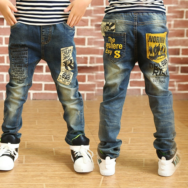 2019 New children's clothing kids boys jeans pants autumn baby 3 to