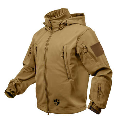 Coyote Brown Tactical Jacket | All Weather Winter Coat - SA Team