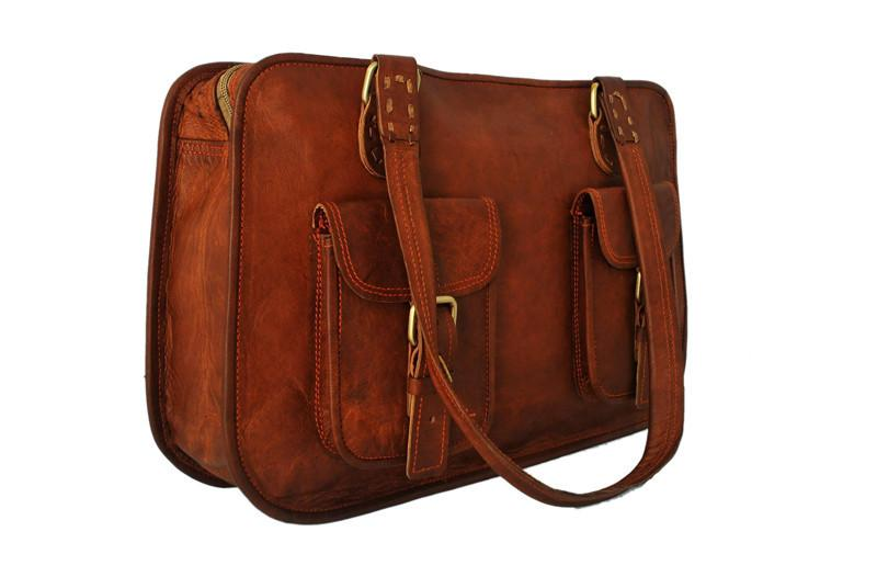 Leather Weekender Bag For Ladies | High On Leather