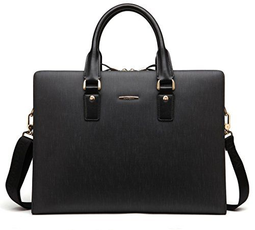 BOSTANTEN Leather Lawyers Briefcase Shoulder Laptop Business Bags