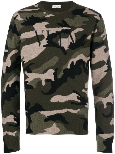 Valentino VLTN Camouflage sweater $1,099 - Buy Online - Mobile