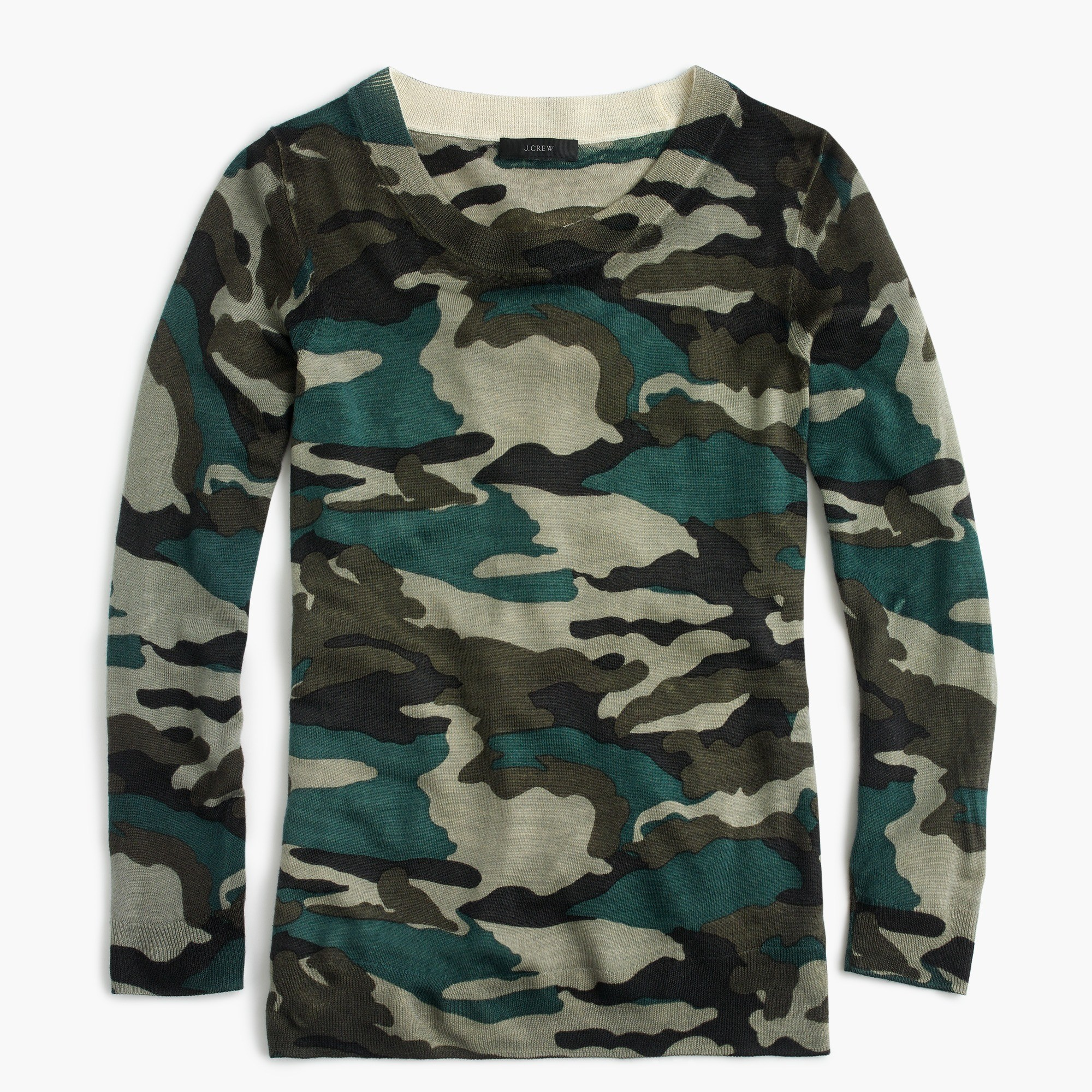 Tippi sweater in camouflage : Women pullovers | J.Crew