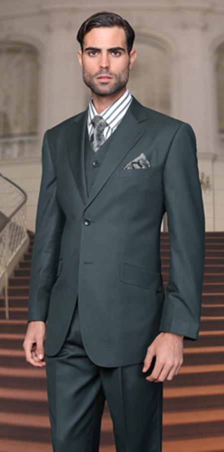 Hunter Olive Green Suits for Men | Cheap Suits for Men for