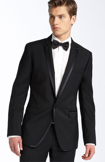 Simple Cheap Black Mens Suits Wedding/Prom Clothing Groom Tuxedos