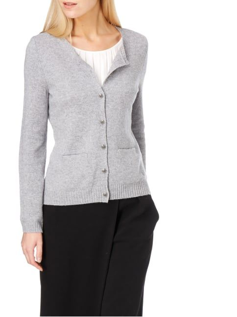 Christian Berg Women Cardigan aus Wolle Graphit meliert - 1 | Light