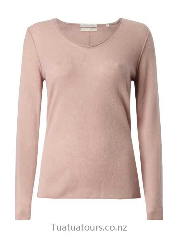 Casual Christian Berg Women Mauve cashmere sweater - IY12497
