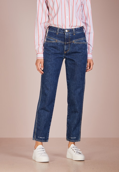 CLOSED PEDAL PUSHER - Relaxed fit jeans - blue marble wash - Zalando