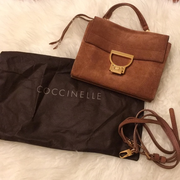 coccinelle Bags | Flash Sale Suede Leather Bag | Poshmark