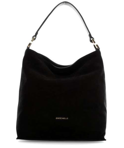 Coccinelle Arlettis Suede Hobo bag brushed cow leather black