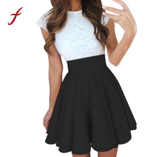 Feitong Sexy School Girls Short Skirts Womens A Line Party Cocktail